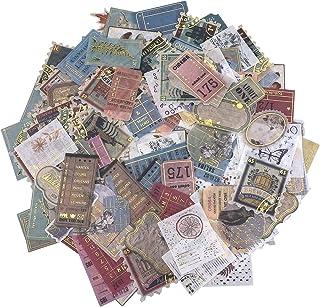 200 Pcs Autocollants Thème du timbre Stickers Vintage Autocollants Voyage D'étanchéité Stickers Scrapbooking Décoration Fo...