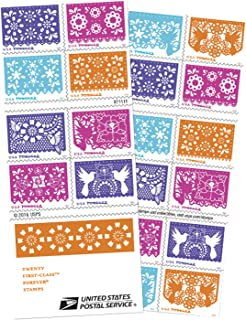 Colorful Celebration USPS Forever Postage Stamps Booklet of 20 Self-Adhesive 1 Booklet of 20 Stamps