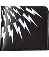 Neil Barrett - Thunderbolt Fair Isle Bifold Wallet