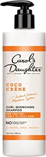 Curly Hair Products by Carol's Daughter, Coco Creme Curl Quenching Shampoo for Very Dry Hair, with Coconut Oil and Mango Butter, Sulfate Free Shampoo For Curly Hair, 12 Fl Oz (Packaging May Vary)