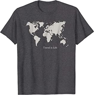 World Traveler Tee by Travel is Life