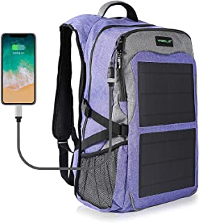 Kingsolar 12W Solar Backpack with USB Charging Port Travel Laptop Backpacks Durable Waterproof Mutiple Function Business Solar Panel Bag for School Work Travel Outdoor Hiking