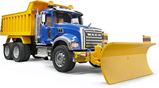 Bruder 02825 MACK Granite Dump Truck with Snow Plow Blade