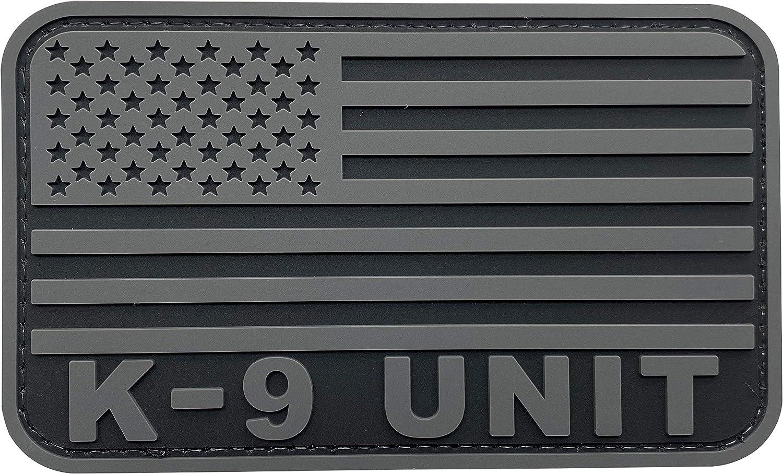 uuKen K-9 Unit Patch Service Dog PVC Tactical inches 3x5 Direct sale of famous manufacturer Subdued