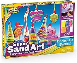 Creative Kids DIY Super Sand Art Activity Kit for Kids – Create Your Own Crafts – 10 x Sand Art Bottles, 10 x Vibrant Colored Sand Bags & 1 x Glitter Bag – STEM Playset - Gift for Boys & Girls 3 +