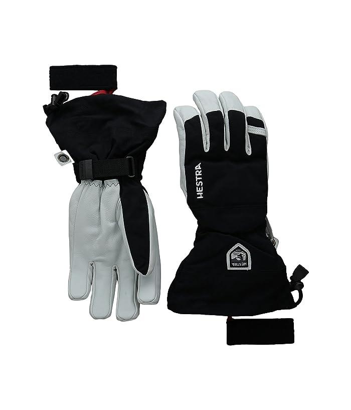 Hestra Army Leather Heli Ski (Black) Ski Gloves