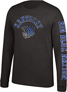 J America NCAA Men's Kentucky Wildcats Logo Long Sleeve Tee, Small, Black