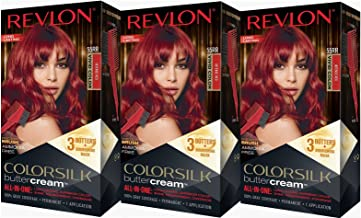 Revlon Colorsilk Buttercream Hair Dye, Vivid Intense Red, Pack of 3