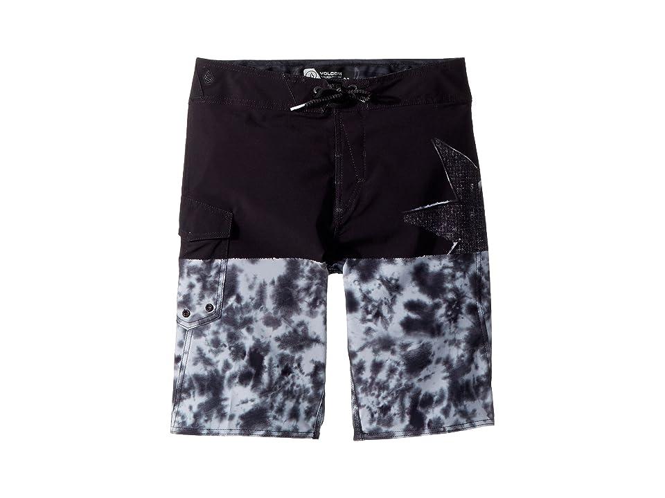 Volcom Kids Lido Block Mod Boardshorts (Big Kids) (Black Combo) Boy