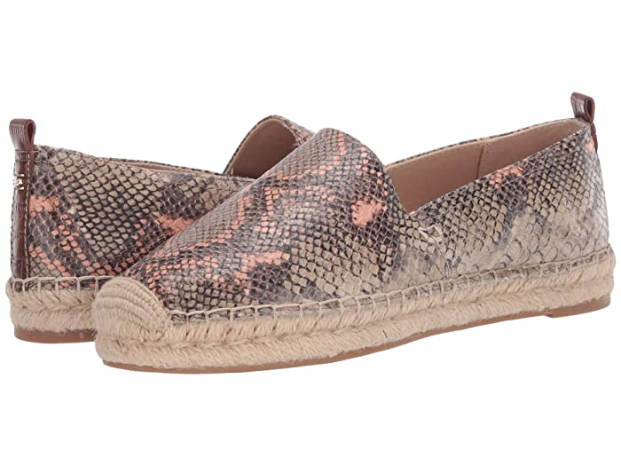 Sam Edelman  Khloe (Mesa Nude/Peach Fizz Exotic Snake Print Leather) Womens Slip on  Shoes
