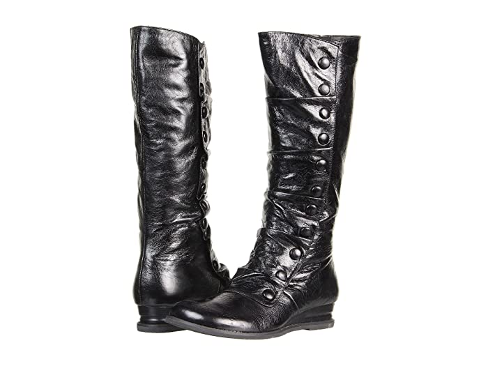 Miz Mooz Bloom (Black) Women's Zip Boots