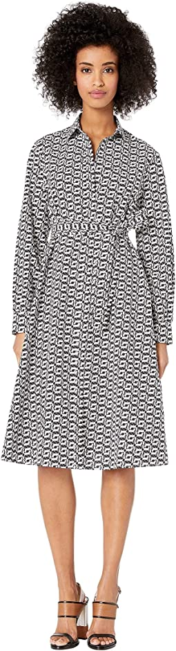 Printed Fox Wrap Dress