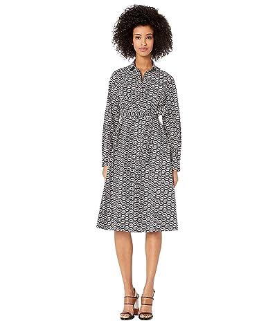Paul Smith Printed Fox Wrap Dress (Black/White Print) Women