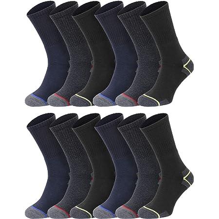Mens Work Sports Boot Warm Winter Thick Socks Size 6-11 Reinforced Heel Toe 1-20