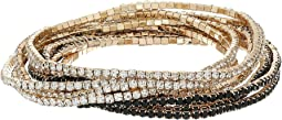 10-Piece Stone Stretch Bracelet Set