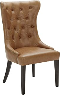 Stone & Beam Leather Dining Chair with Deep Tufting, 42