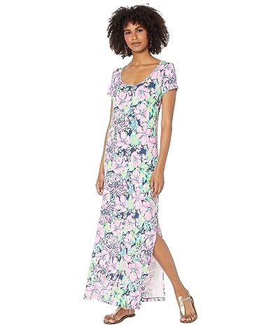 Lilly Pulitzer Wynne Maxi Dress (High Tide Navy Tall Order) Women