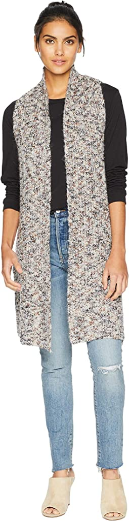 Fuzzy Twisted Flecks Sweater Vest KS0K5919