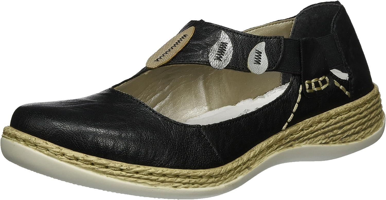 Rieker Women's Cut Out Slip on Sandal shoes (46473-00)