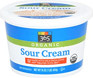 SOUR CREAM, 365 WFM, UNFI, 12-16OZ