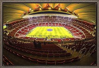 Cuadro enmarcado - Cuadro de el Estadio Wanda Metropolitano del Atlético de Madrid - Fotografía artística y moderna de alta calidad - Listo para colgar - Hecho a mano en España (40_x_60_cm)