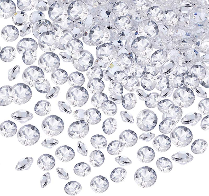 10000 Clear Wedding Table Scatter Confetti Crystals Acrylic Diamonds Rhinestones For Table Centerpiece Decorations Wedding Decorations Bridal Shower Decorations Vase Beads Clear 4 5 MM And 6 MM