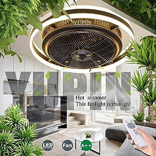 Ventilador De Techo Lámpara De Techo Con Ventilador LED Con Iluminación Luz De Ventilador Invisible Ajustable Dormitorio Estar Regulable Control Remoto Ventilador Silencioso Habitación Para Niños