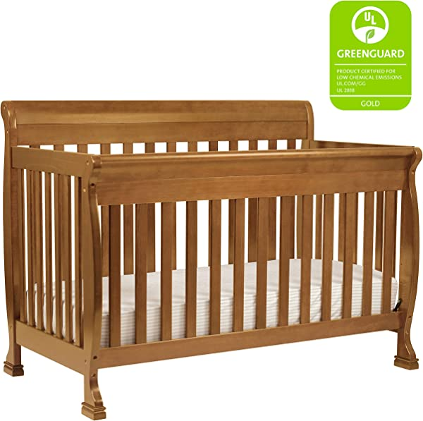 DaVinci Kalani 4 In 1 Convertible Crib In Chestnut Greenguard Gold Certified