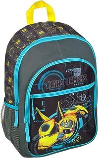 Undercover TFUV7614 - schoolrugzak met voorvak, gevoerd, robuust, Transformers met bumblebee-motief, ca. 43 x 32 x 12 cm.