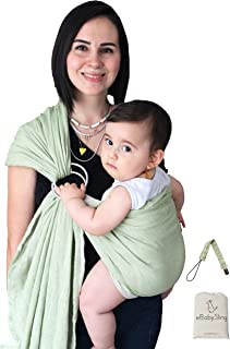Lightweight Baby Carrier Wrap Ring Sling   2 Color in 1 Product Baby Sling   Perfect Baby Shower Gifts, Luxury Soft and Br...