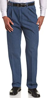 Haggar Men's Pleat & Flat Front Denim - Regular and Big & Tall Sizes