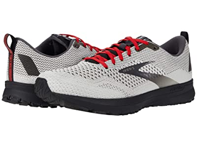 Brooks Revel 4 (White/Black/Red) Men
