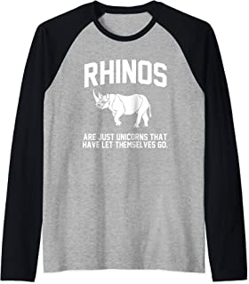 Rhinos are just Unicorns that have let themselves go Raglan Baseball Tee