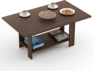 BLUEWUD Osnale Engineered Wood Coffee Table/Centre Table, Tea Table (Wenge, Rectangular)