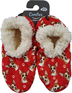 Chihuahua Super Soft Womens Slippers - One Size Fits Most - Cozy House Slippers - Non Skid Bottom - perfect for Chihuahua gifts