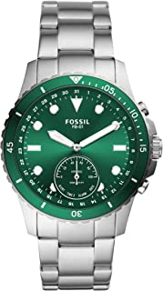 Fossil Smartwatch Híbrido para Hombre de Connected con Correa en Acero Inoxidable