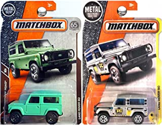 Matchbox 2017 and 2018 Land Rover 90 in Green and Silver SET OF 2
