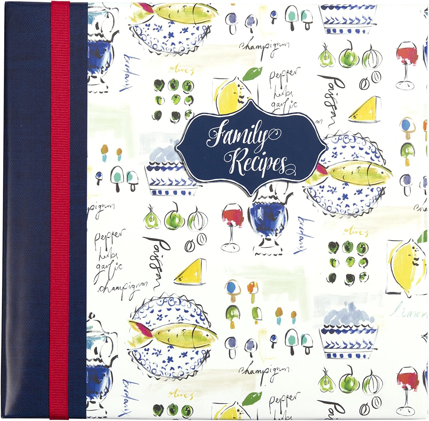 C.R. Gibson Family Recipe Memory Book, Provence, Multicolor