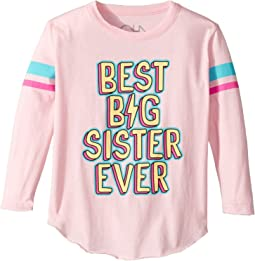 Chaser Kids - Long Sleeve Super Soft Best Big Sis Tee (Toddler/Little Kids)