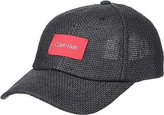 Calvin Klein Women's Straw Baseball Hat W/Logo Patch