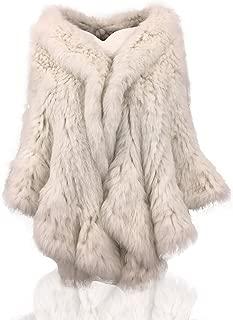 100% Natural Knitted Rabbit Fur Shawl
