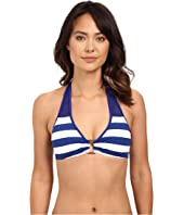 LAUREN Ralph Lauren - Balboa Stripe Ring Front Halter Top w/ Removable Cup