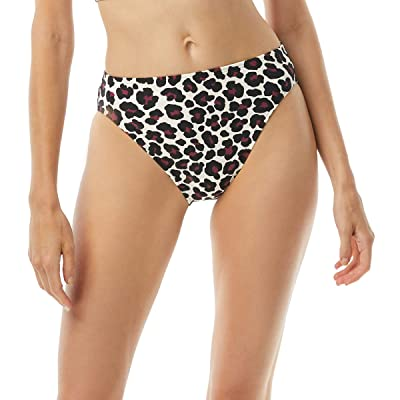 MICHAEL Michael Kors Small Leopard High-Waisted High Leg Bottoms (Ruby) Women