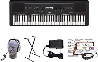 Yamaha PSR-EW310 EPY Paquete de teclado educativo de 76 teclas con fuente de alimentación, soporte atornillado, auriculares, cable USB y software de instrucciones (YAM PSREW310