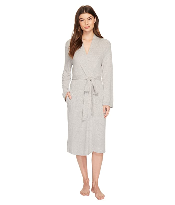 N by Natori Soho Brush Robe (Heather Grey) Women