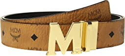 MCM Claus Reversible Gold Buckle Belt