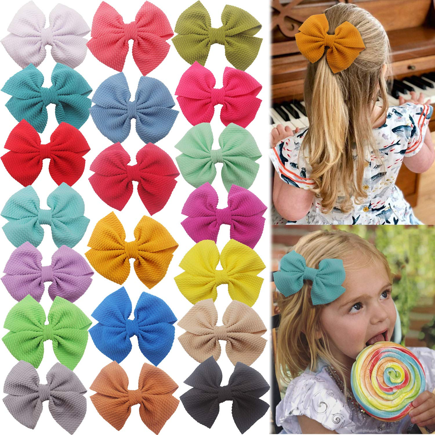 Ranking TOP16 DeD 20PCS 4.5 Inch Baby Girl We OFFer at cheap prices Bows with Hair Alligator Clips