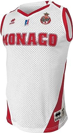 AS Monaco - Maglia Ufficiale da Basket 2019-2020, da Bambino, Bambini, Maillot_Dom_Monaco, Bianco, FR :