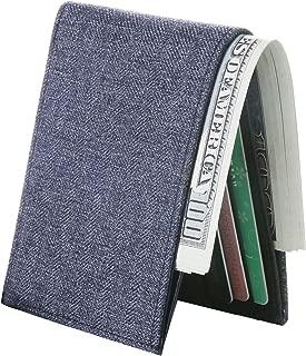 Minimalist Wallet Men RFID Blocking Wallet Boys Front Pocket Bifold Card Holder