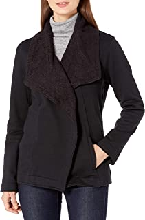 Jag Jeans Women's Tiffany Shawl Collar Brushed Terry Top